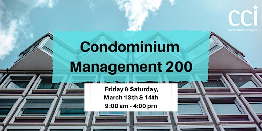 Condominium Management 200 (CCI Seminar)