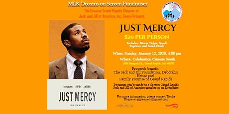 MLK Dreams on Screen Fundraiser: Just Mercy tickets