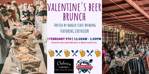 Valentine's Beer Brunch featuring Chefusion