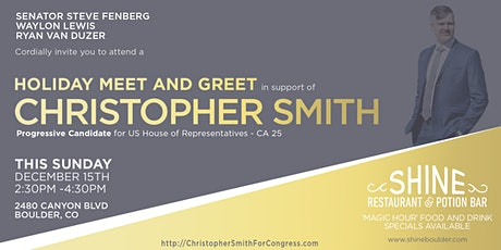 Holiday Meet and Greet supporting Christopher Smith for Congress tickets