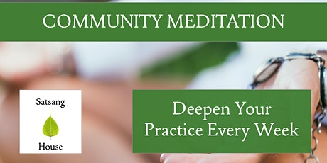 Community Meditation (Online) tickets
