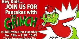 CFA Pancakes with The Grinch