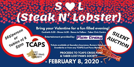 TCAPS Steak & Lobster Night tickets