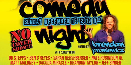 The Hood Bar & Pizza Comedy Night: Sun. Dec. 15th 9pm