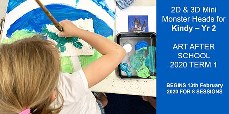 Mini Monster Heads 2D & 3D for Kindy – Yr 2 tickets