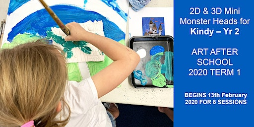2D & 3D Monster Heads for Kindy – Yr 2