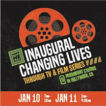 """Why We Rise """"Changing Lives Through TV & Film"""" Series logo"""