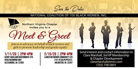 Meet and Greet - NCBW NOVA Chapter Membership Interest Meeting tickets