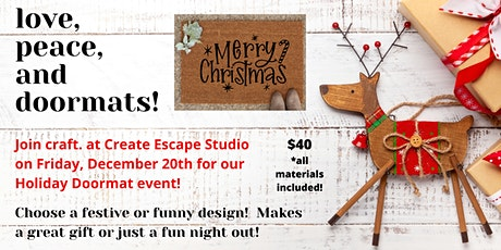 Doormats at Create Escape: Welcome Home! tickets