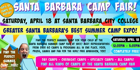 Santa Barbara Summer Camp Fair at Santa Barbara City College tickets