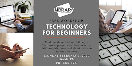 Technology for Beginners: Free workshop tickets