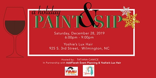 A Holiday Paint & Sip