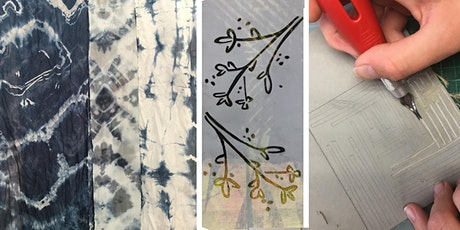 Shibouri dyeing, Stenciling, and block carving 2 day workshop  tickets