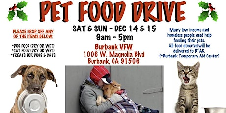 FOOD DRIVE FOR HOMELESS ANIMALS tickets