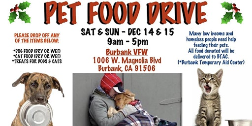 FOOD DRIVE FOR HOMELESS ANIMALS