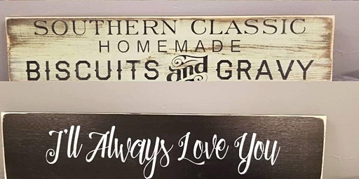 """""""Everyday  Sayings"""" Hand painted sign class December 15 @1pm"""