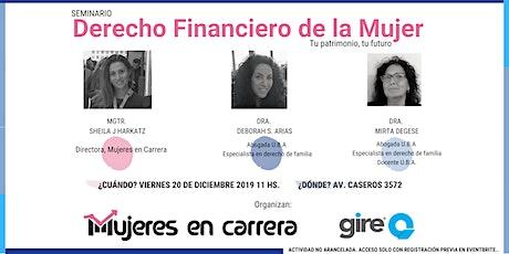Seminario Derecho Financiero de la Mujer: tu patrimonio, tu futuro entradas
