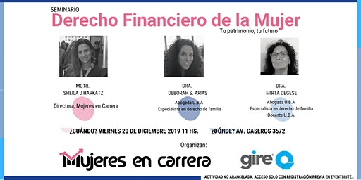 Seminario Derecho Financiero de la Mujer: tu patrimonio, tu futuro