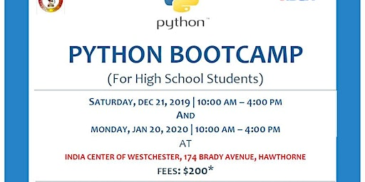 Python Bootcamp for High School Students