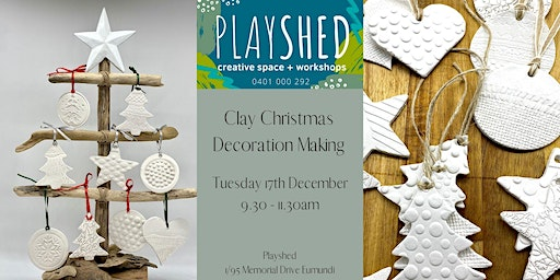 Clay Christmas Decorations Workshop