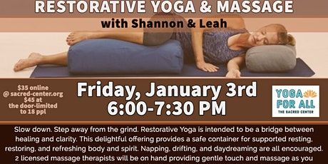 Restorative Yoga & Massage with Shannon Walker & Bodhi Spa staff tickets