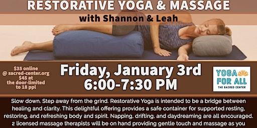 Restorative Yoga & Massage with Shannon Walker & Bodhi Spa staff