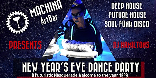 NYE Dance Party: Futuristic Masquerade- Welcome to the year 3020