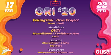 OUSA Orientation '20 tickets