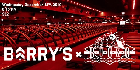 Barry's Bootcamp x Camp Bucko tickets