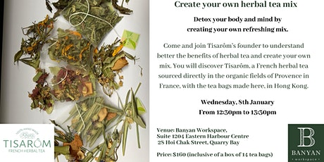 Post Christmas Detox Workshop - Create your herbal tea mix tickets
