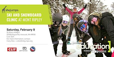 MI SheJumps Ski and Snowboard Clinic at Mont Ripley tickets