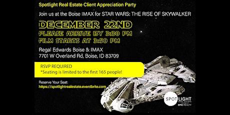 Client Appreciation[Private] Stars Wars screening w/ Spotlight Real Estate tickets