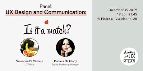 UX Design and Communication: Is it a match? biglietti