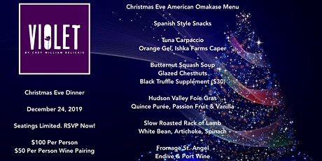 Christmas Eve Dinner at Violet tickets