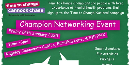 Time to Change Champion Networking Event