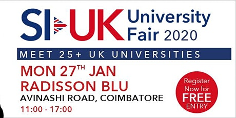 India's biggest UK Education fair in Coimbatore on January 2020 tickets