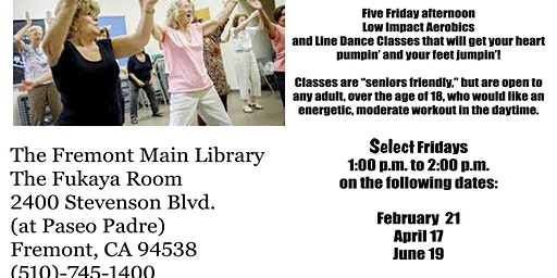 Free Fun Fitness at The Fremont Main Library