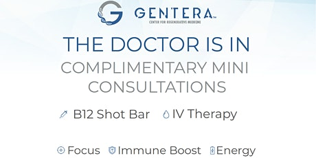 Gentera Med & Cross Campus IV Therapy & Shot Bar Pop Up tickets