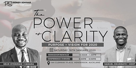 POWER SEMINAR 7 - The Power of Clarity tickets