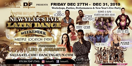 New Year's Eve Latin Dance Weekender - Multilocation event tickets