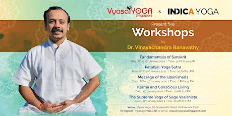Indica Yoga Presents 5  Workshops by Dr. Vinayachandra Banavathy tickets