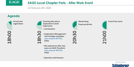EAGE Local Chapter Paris - February After Work Event 2020 billets