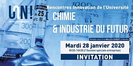 Rencontres Innovation de l'Université de Nantes - Chimie Industrie du futur billets