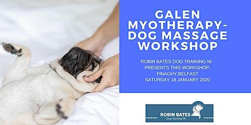 Galen Myotherapy -Dog massage workshop