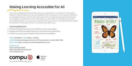 Making Learning Accessible For All tickets