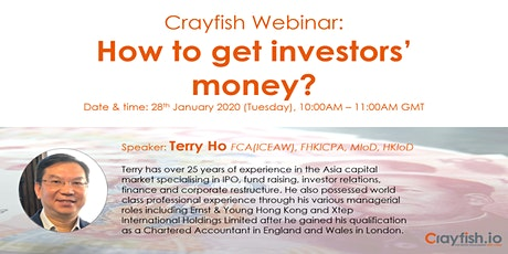 Crayfish Webinar: How to Get Investors' Money? tickets
