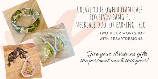 ResArtDesigns Eco Resin Botanical Jewellery Workshop