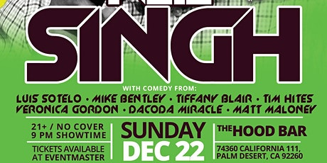 The Hood Bar & Pizza Comedy Night: NEIL SINGH Sun. Dec. 22nd 9pm tickets