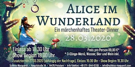 """""""Alice im Wunderland"""" Theaterdinner mit 3- Gang Menü Tickets"""
