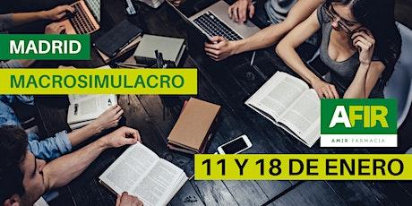 MACROSIMULACRO MADRID 11 Y 18 DE ENERO entradas